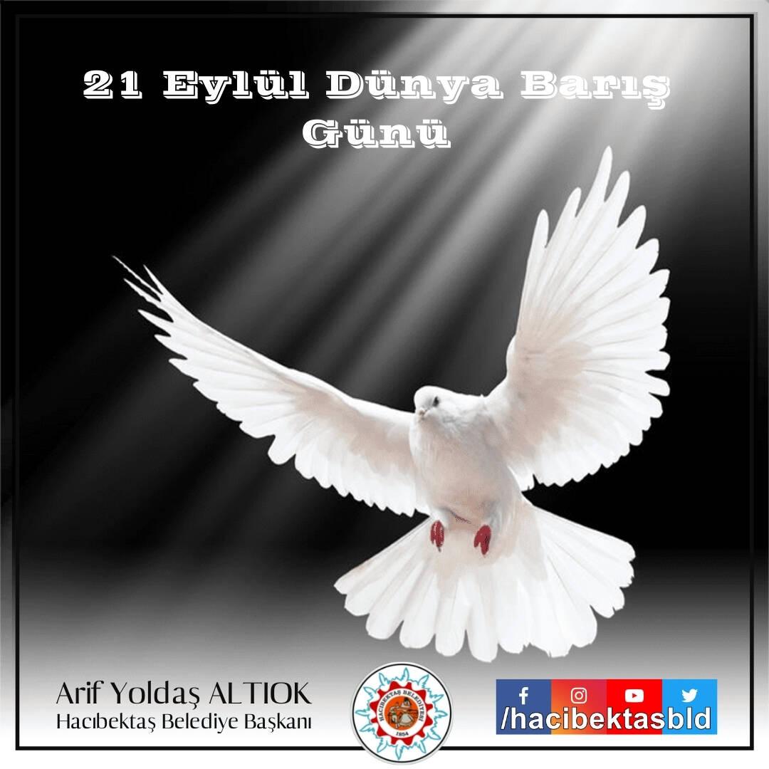 21 Eylül Dünya Barış Günü Kutlu Olsun.