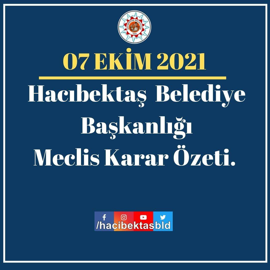 07 EKİM 2021 MECLİS KARAR ÖZETİ