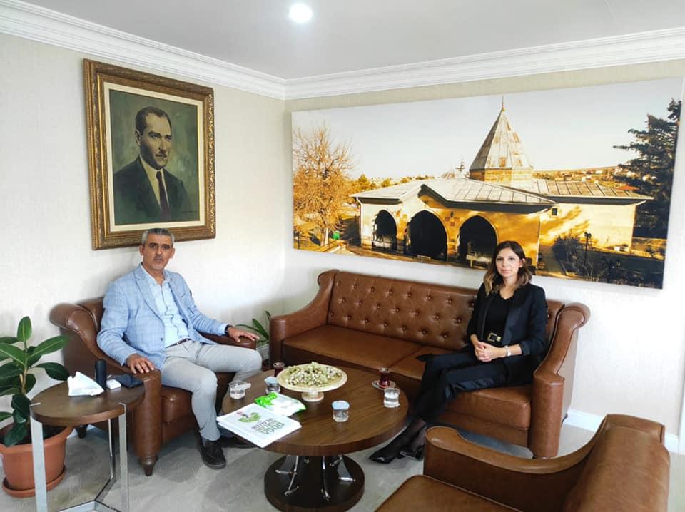 Hacıbektaş Kaymakamımız Sayın Kübra Kurtoğlu Geçmiş Olsun Ziyaretinde Bulundu.