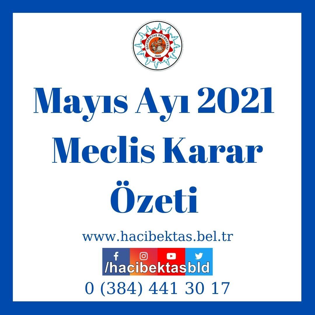 Mayıs Ayı 2021 Meclis Kararı Özeti